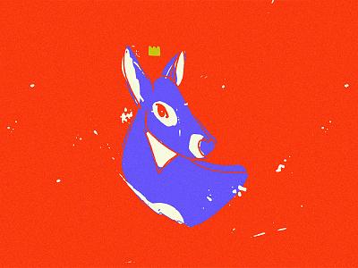 Deer illustration animal crown doe deer