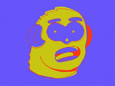 Monkee illustration monkey