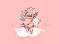 Cupid Flying