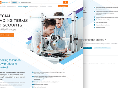 Dribbble Shots Farnell Special Offer tech lab students corporate business responsive layout design web promotion startup