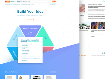 Dribbble Shots Farnell Home engineering iot modern corporate tech landingpage startup layout web
