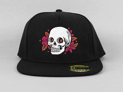 Caps design floral illustration design hat skull cap caps