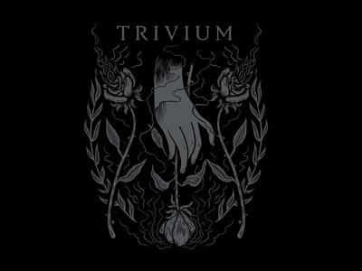 Trivium rose floral design crest illustration design trivium illustration