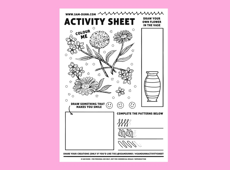Activity Sheet drawingart draw activity sheet colour colouring drawing