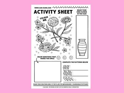 Activity Sheet drawingart draw activity sheet colour colouring drawing