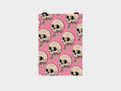 Prints! skull print design art drawing