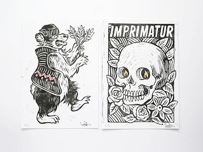 Lino Set design linocut lino art lino illustration art drawing illustration