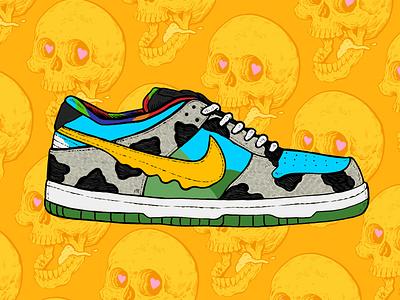 Dunk collab ice cream hypebeast hype sneaker shoe design illustration art drawing illustration