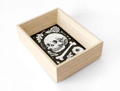 Skull skull frame design art drawing