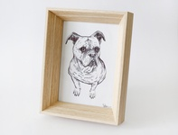 Doggy cute frame drawing illustration art dog