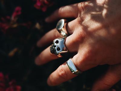 Cast By Night ring rings design skull art skull handmade jewelry jewellery shop jewellery