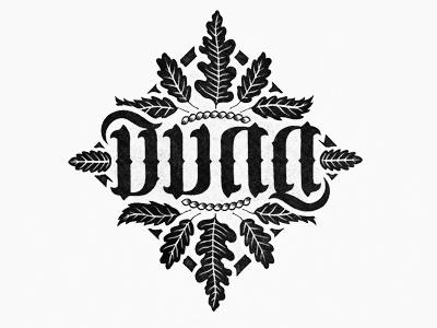 Dunn illustration crest logo mark name dunn type typography ambigram