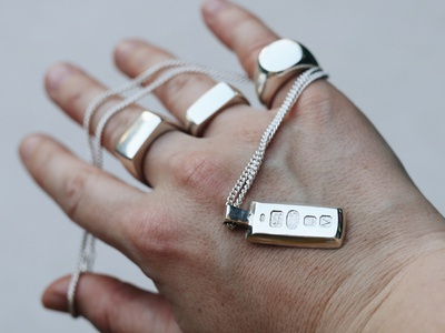Cast By Night Launch design ingot signet ring silver jewelry jewellery rings