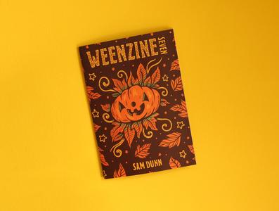 WEENZINE SEVEN zine halloween cute pumpkin sam dunn design art drawing