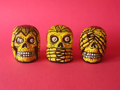 Skull Trio skulls sam dunn illustration design art illustration