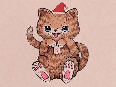 Mewwww festive christmas character cat cute