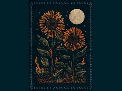 Sunflower sunflowers wacom illustration design drawingart drawing