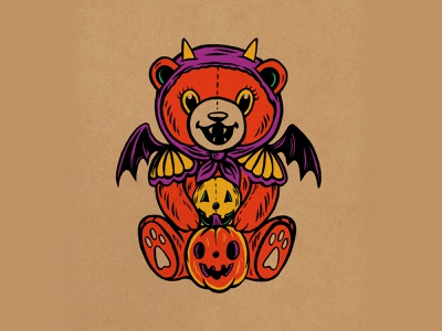 WEENZINE EIGHT design art teddy cute character halloween drawing illustration