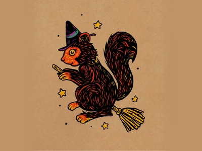 WEENZINE EIGHT character cute halloween hocus pocus witch drawing illustration