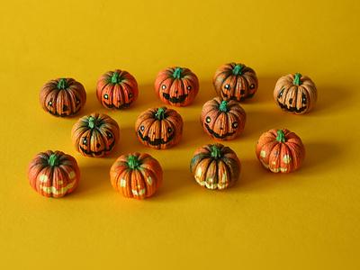 Little Pumpkin Pals design sam dunn model cute spooky halloween pumpkin pumpkins painting illustration