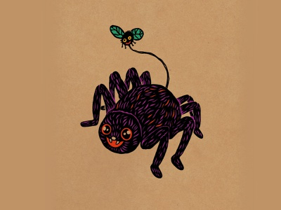 WEENZINE EIGHT character fall halloween cute spider drawing illustration