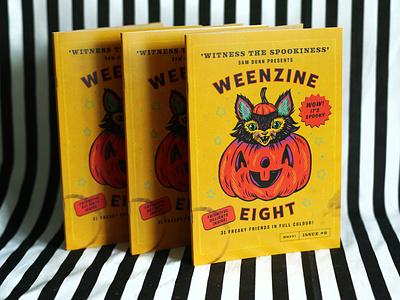 WEENZINE EIGHT spooky vintage book cover book character cute pumpkin halloween weenzine drawing illustration