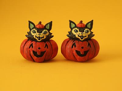 Spooky cute halloween spooky illustration handmade sculpt figure art toy