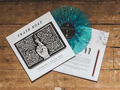 Trash Boat prints drawing cover illustration blockprint print linocut lino cd band