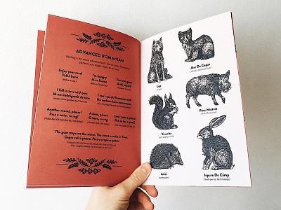 Zine art woodland animals design book romanian zine illustration