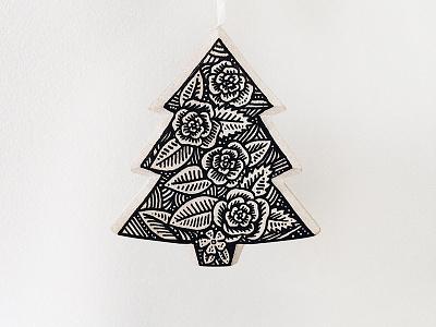 Baubles! sharpie ink pen art christmas drawing bauble illustration