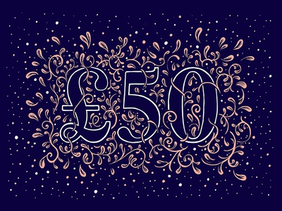 50 ink christmas voucher 50 typography type illustration