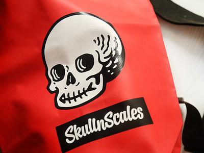 SkullnScales design swimwear swimming bag design bag logo illustration