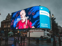Twitter X Fifa Women's World Cup Piccadilly Takeover
