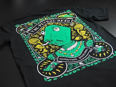 Petrol Head t-shirt art design moto gp f1 detail floral penandink tshirt art drawing tshirt illustration