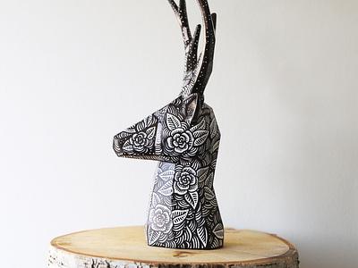 Deer drawings deer christmas xmas sam dunn design drawingart pen and ink drawing illustration