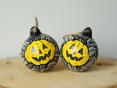 Pumpkins halloween design christmas xmas halloween flyer halloween party spoopy cute pumpkin bauble halloween
