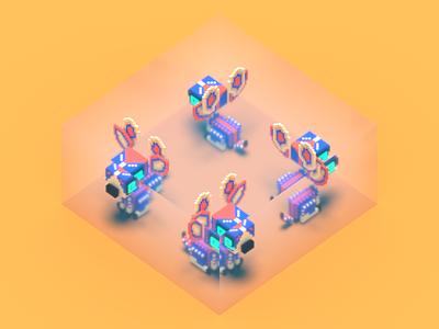 VOXELed nVIDIA Studios challenge 3d art voxel mascot nvidia magicavoxel voxelart