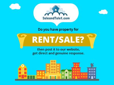 Property website ad blue sale property rent saleandtolet illustration advertisement digital ad vector real estate property