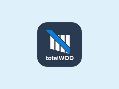 TotalWOD graphic flat colors gym android ipad appstore icon iphone icon