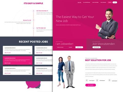 Purple job website template company website website portal job portal job post job seeker purple job