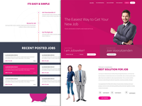Purple job website template