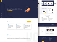 Landing page design for IT industry