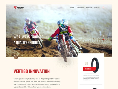 Landing page - Tyre company