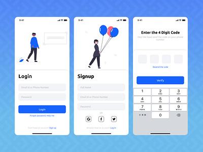Login / Signup app dailyui design ui