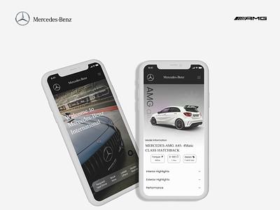 Mercedes-Benz AMG Ui Design Concept car ui automotive design ux app dailyui ui