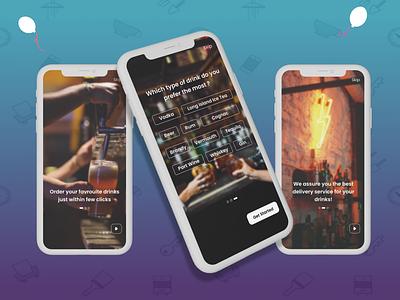 Onboarding UI Design - Hardrinks Delivery App onboarding design delivery apps ios ui user interface branding mobile ui app design ux dailyui