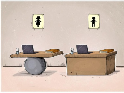 Women's job insecurity job opportunity unequality design mahnaz yazdani women violence political cartoon social cartoon editorial cartoon press cartoon