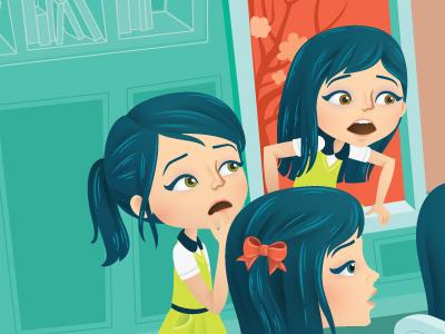 The Escape character children editorial escape illustration illustrator magazine students vector window