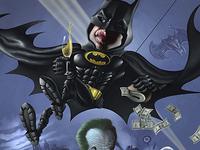 Batman 1989 Caricature poster