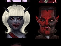 Demon avatars for game